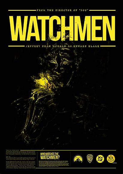 Watchmen Poster Comedian Watches Behance Giphy