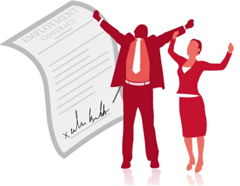 step  sign employment contract  celebrate