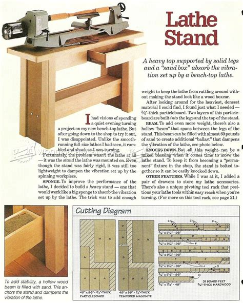 lathe stand plans woodarchivist