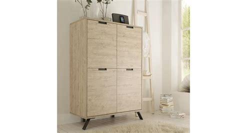 meuble et canape com meuble de rangement nekho 4 portes en bois et piètement