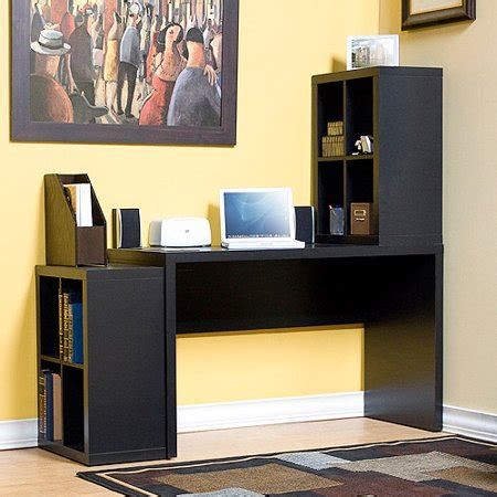 desk with storage cubes modular storage desk with 2 cubes walmart