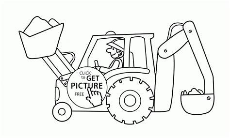 excavator coloring page  kids transportation coloring