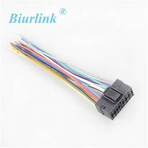 Car Radio Harness Adapter Stereo Wire Wiring Power Cable For Sony Headunit 16 Pin