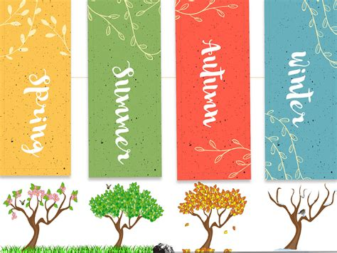 yellow white season of trees backgrounds blue green multi color