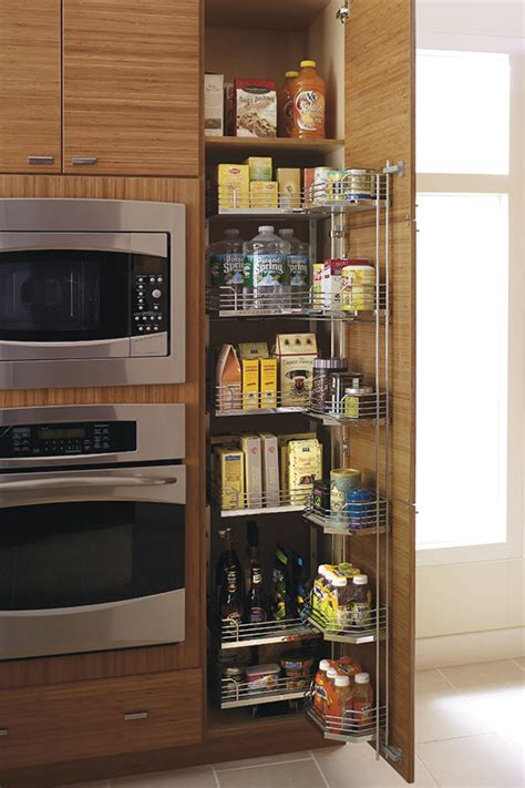 tall pantry pull  tandem cabinet kitchen craft cabinetry