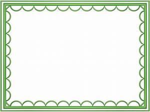 Light Green artistic loop Rectangular Powerpoint Border ...