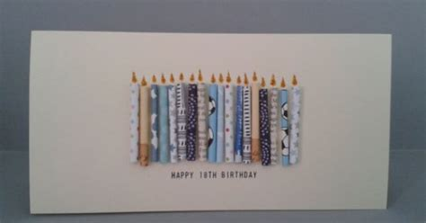 happy  birthday candle card   paper candles