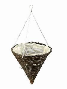 Cache Pot Suspendu : cache pot c ne suspendu apollo en osier noir 35cm 17 35 ~ Premium-room.com Idées de Décoration