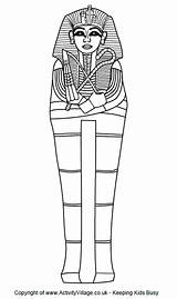 Sarcophagus Egyptian Ancient Colouring Egypt Crafts Visit Students History Craft sketch template