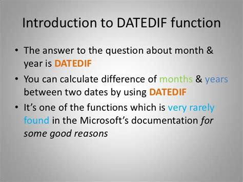 excel datediff function