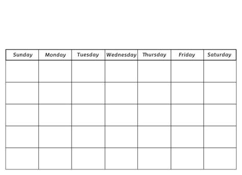 Blank Calendar Template For Kids Costumepartyrun