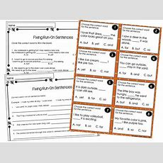Writing Mini Lesson #4 Runon Sentences  Rockin Resources