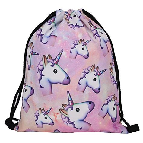 sny backpack unicorn abu susi drawstring bags sport school backpack