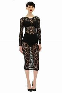 longue robe en dentelle stefanie renoma With robe noire en dentelle