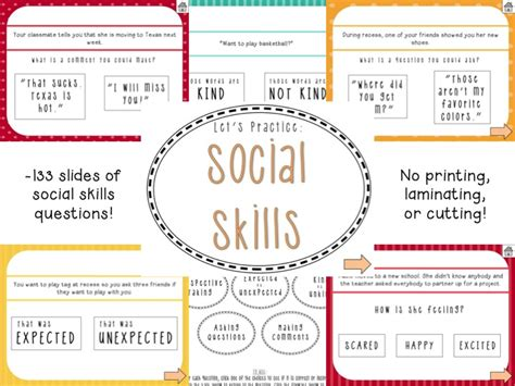 social skills social language powerpoint speechymusings