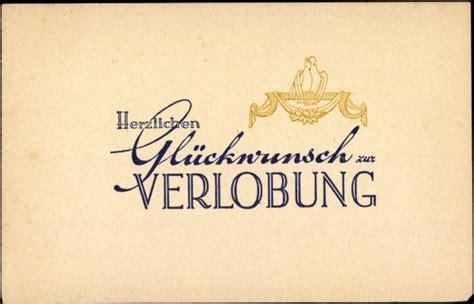 ansichtskarte postkarte glueckwunsch zur verlobung