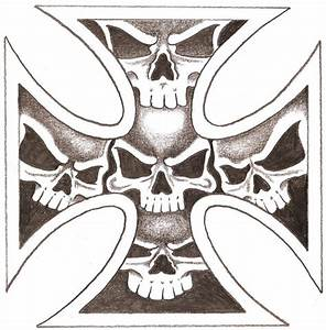 Iron Skull Cross by TheLob on DeviantArt