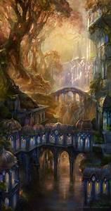 Digital paintings of Fantasy landscape by Snow Skadi ...