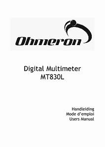 Digital Multimeter Mode Demploi