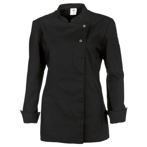veste de cuisine femme manches longues peut bouillir noir