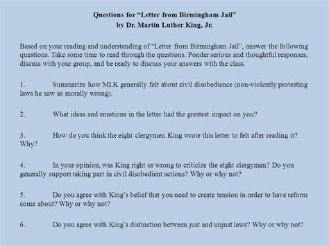 """12015 Do Now Take Out Your Annotated Chunks Of Mlk's """"letter From A Birmingham Jail"""" Begin"""