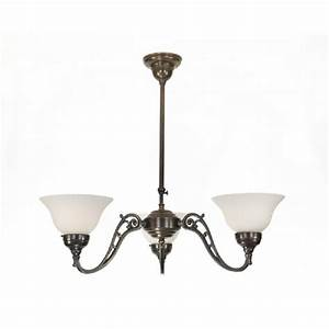 Traditional aged brass ceiling light with upward facing