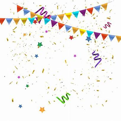 Confetti Celebration Transparent Background Clipart Party Birthday