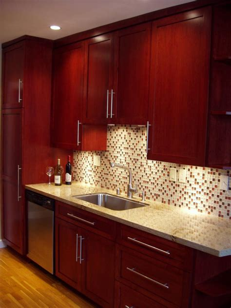 kitchen backsplash cherry cabinets brighter kitchen paint colors with cherry cabinets escalating the modern luxury mykitcheninterior