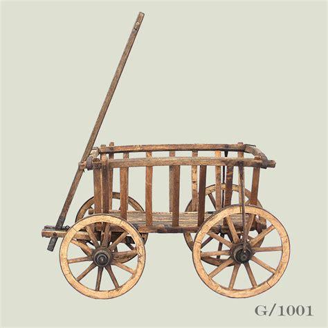 metal basket with handle antique wooden cart vintage matters