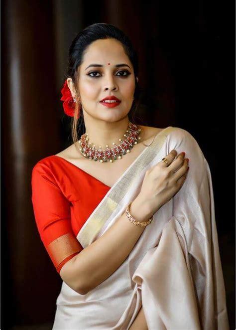 Latest Photographs Of Anasuya Bharadwaj In Saree - Actress ...