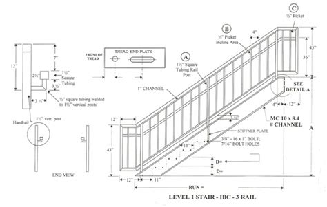 Railing Height Standard Railing Height On Stairs A More