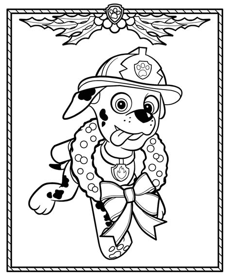 Christmas Coloring Pages Paw patrol coloring Free