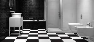 Carrelage Salle De Bain Noir Et Blanc : craquez pour le carrelage noir et blanc blog carrelage ~ Dallasstarsshop.com Idées de Décoration