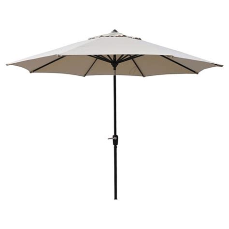 smith and hawken 10 aluminum auto tilt patio umbrella ebay