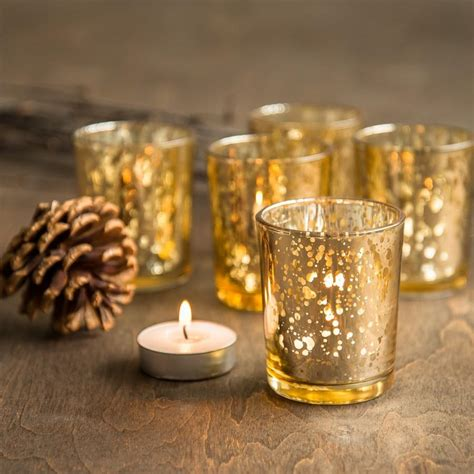 gold votive candle holders set of 72 gold mercury glass candle votive mercury glass