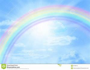 Sky Rainbow Sun Background stock photo. Image of cloudy ...