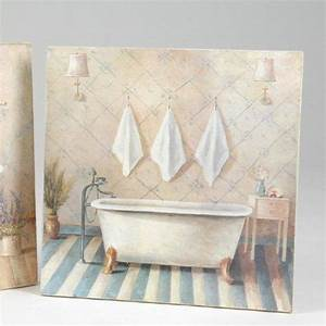Tableau Pour Salle De Bain : toile d co salle de bain elise tableaux d co pinterest deco salle de bain toiles et salle ~ Dallasstarsshop.com Idées de Décoration