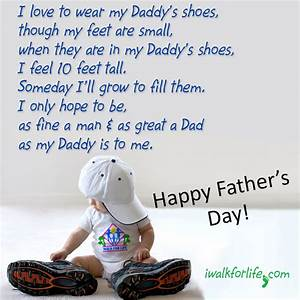 """""""I love to wear my Daddy's shoes, though my feet are small ..."""