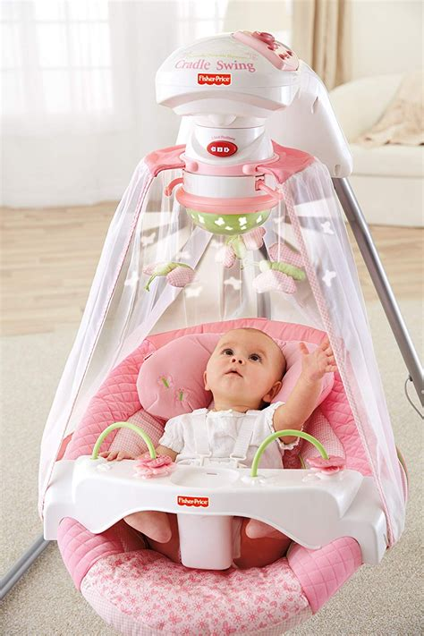 fisher price rocker swing baby swing fisher price cradle infant pink portable