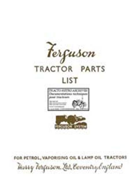 Modification En Anglais by Revue Technique Manuel Notice D Entretien Tracteur Ferguson
