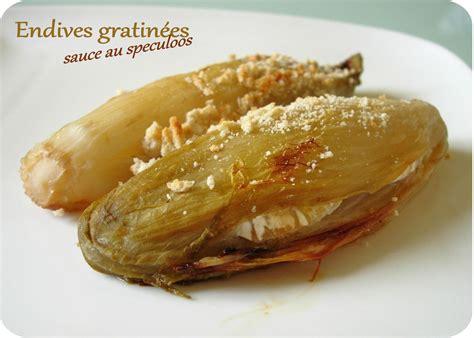 cuisine endives endives gratinées au coeur de chèvre sauce au speculoos