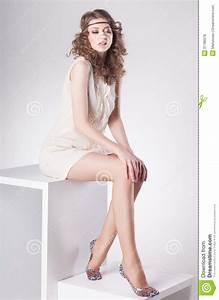 Beautiful Woman With Long Sexy Legs Wearing Socks Posing ...