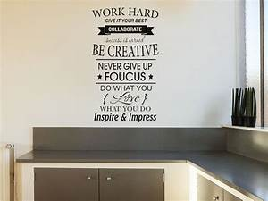 Work Hard Inspi... Large Vinyl Wall Quotes