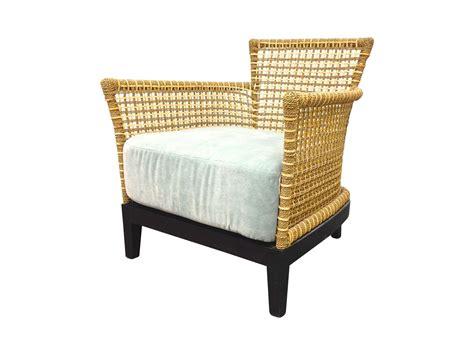 designer rattan chair with velvet cushion design plus