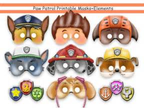 PAW Patrol Printable Masks