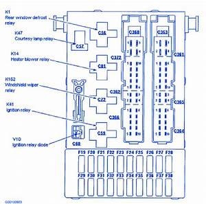 Ford Contour S E 1997 Fuse Box  Block Circuit Breaker Diagram  U00bb Carfusebox