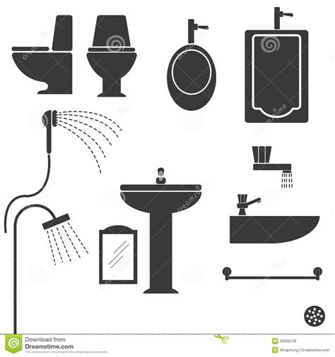 Sanitary Ware Vector Royalty Free Stock Photos - Image