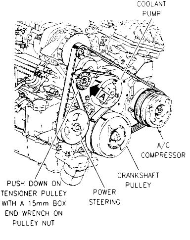 4 8 Chevy Engine Belt Diagram by Installation Diagram For A Serpentine Belt On A 1995 Olds