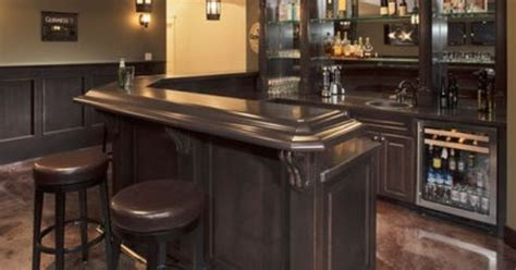 L shaped Basement Bars   shaped Bar Design, Pictures