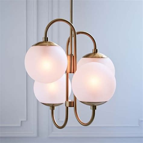 pelle asymmetrical chandelier 4 light west elm